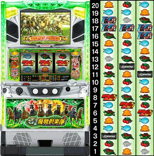 G1優駿倶楽部 筐体  リール